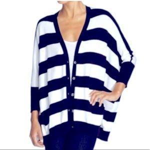 Michael Kors Dolman Navy Stripe Sweater S/M